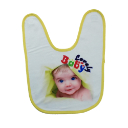 Bavoir bords jaune personnalise cadeau parents